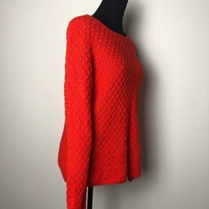 J. Crew red knit sweater